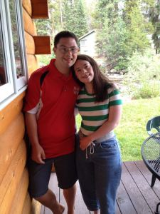 Leah and Mark in 2015, five years after her journey to become healthier began