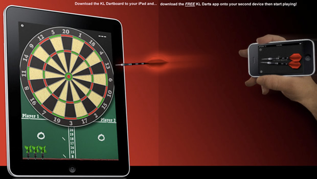 Example of Multi-device Complementary Experience - KL Dartboard
