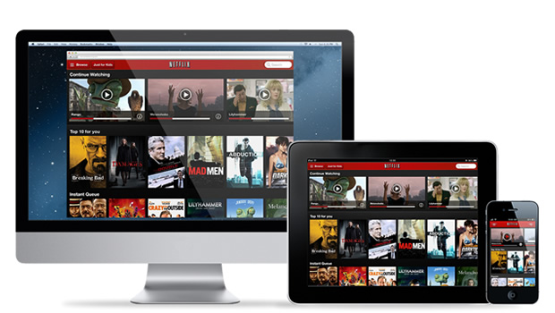 Example of Multi-device Consistent Experience - Netflix