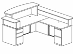 Modern Reception Station Coordinates with Office and Data