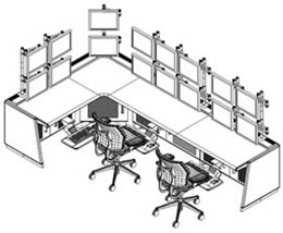 Control Room Desk / Data Center Desk