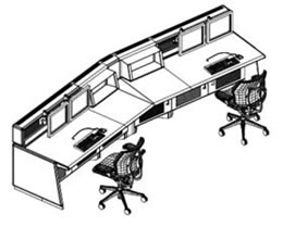 Dispatch Console Furniture in a Wide Variety of Configurations