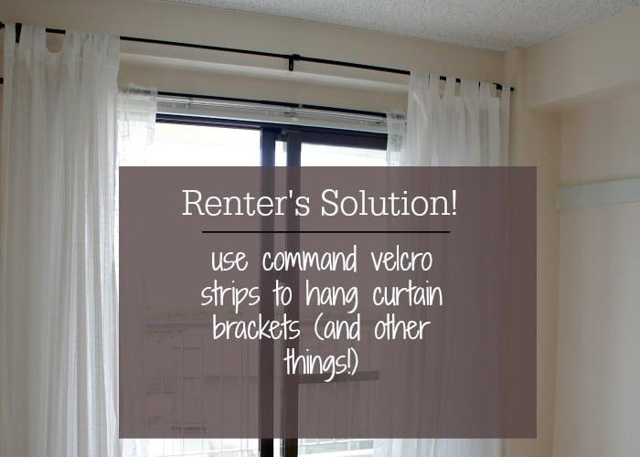 hang curtains without drilling holes