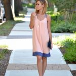 Colorblock Chiffon Dress