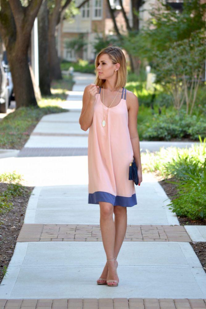 Pink Blush Chiffon dress outfit