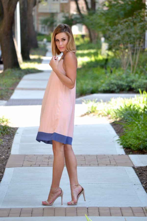 Pink Blush Chiffon dress outfit