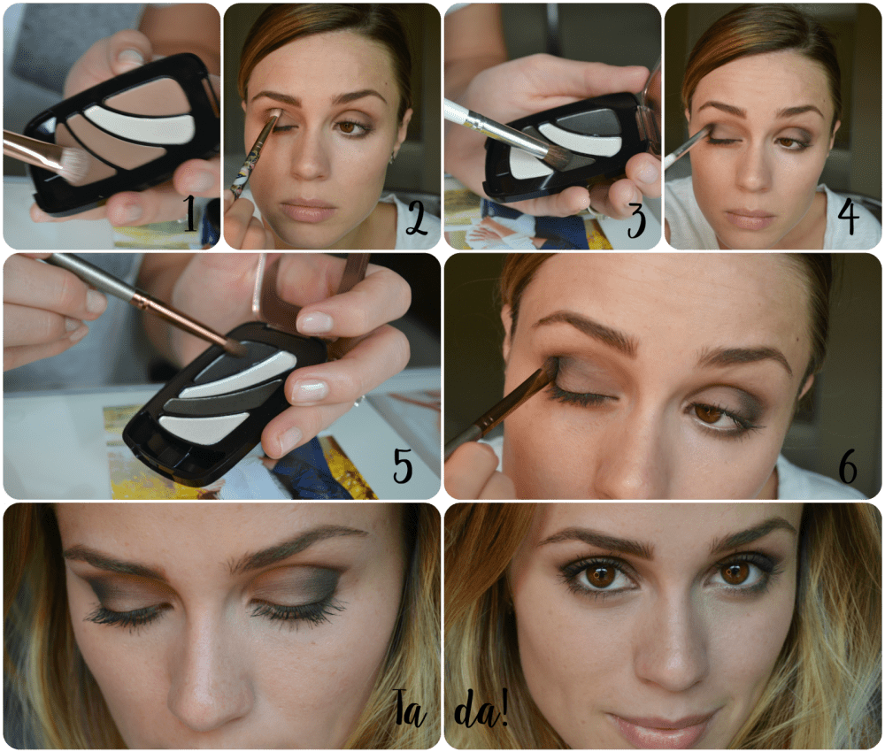 smokey eye tutorial with L'oreal