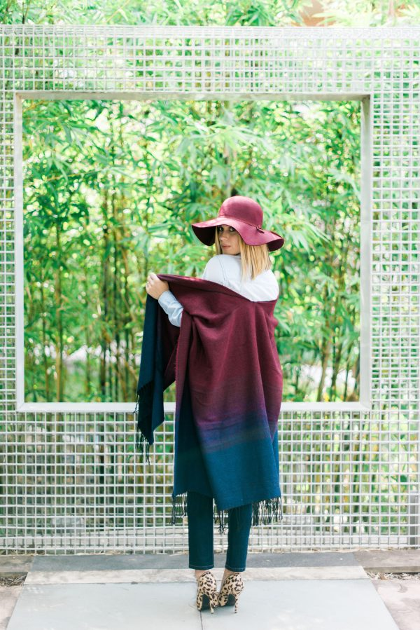 Poncho sweater outfit