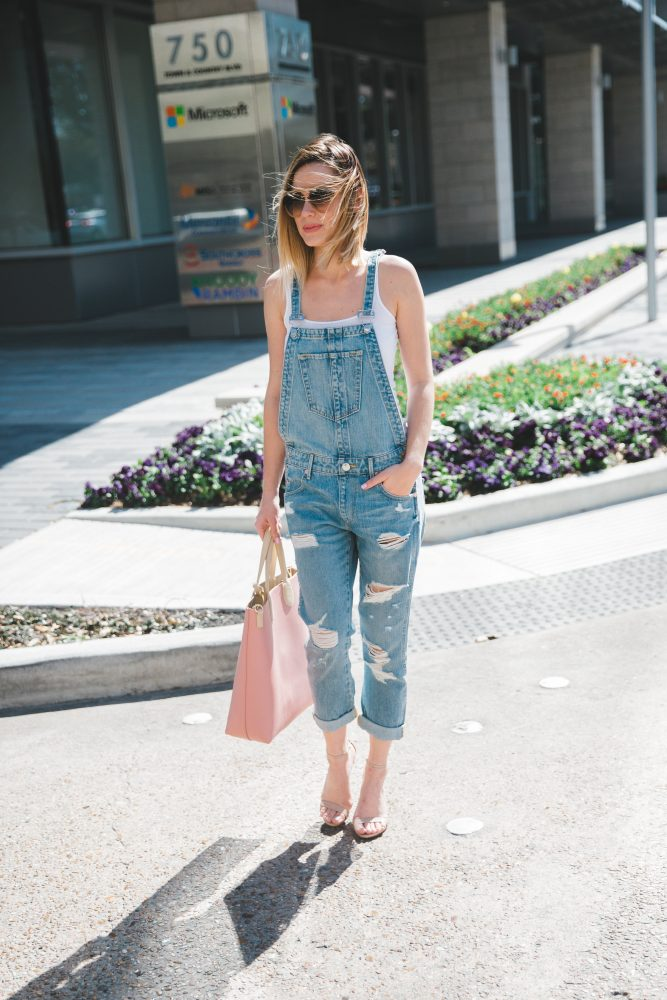 denim overalls outfit