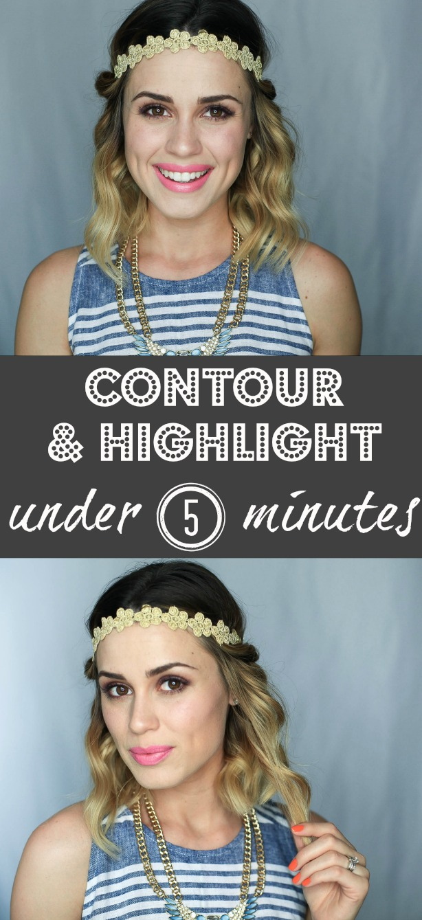 highlighting and contouring in under 5 minutes