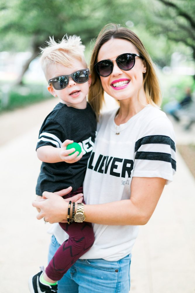 Mommy and me matching tee's