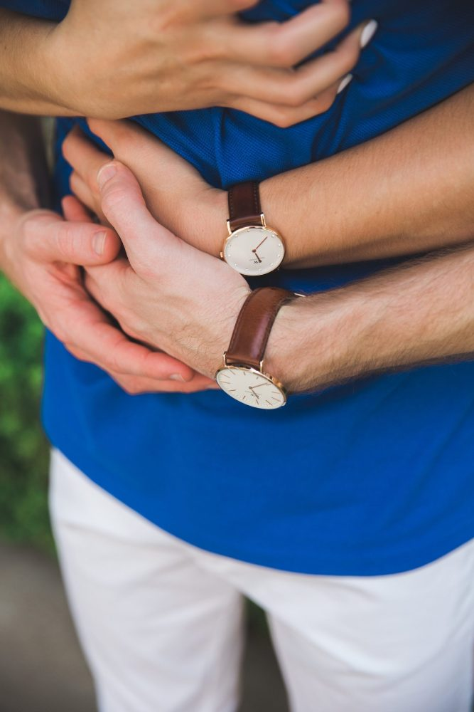 his and hers matching Daniel Wellington watches