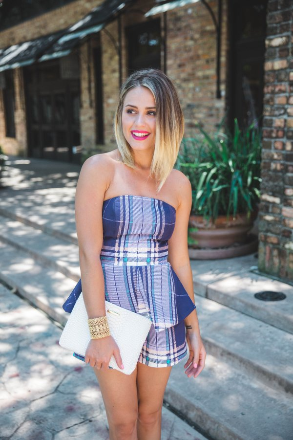 How to keep your hair healthy during the summer | Finders Keepers plaid jumpsuit Summer look