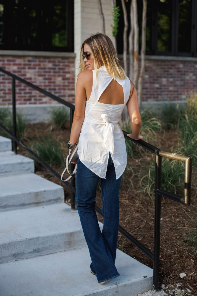 Trouser Jeans look | Flare Denim outfit | Uptown with Elly Brown