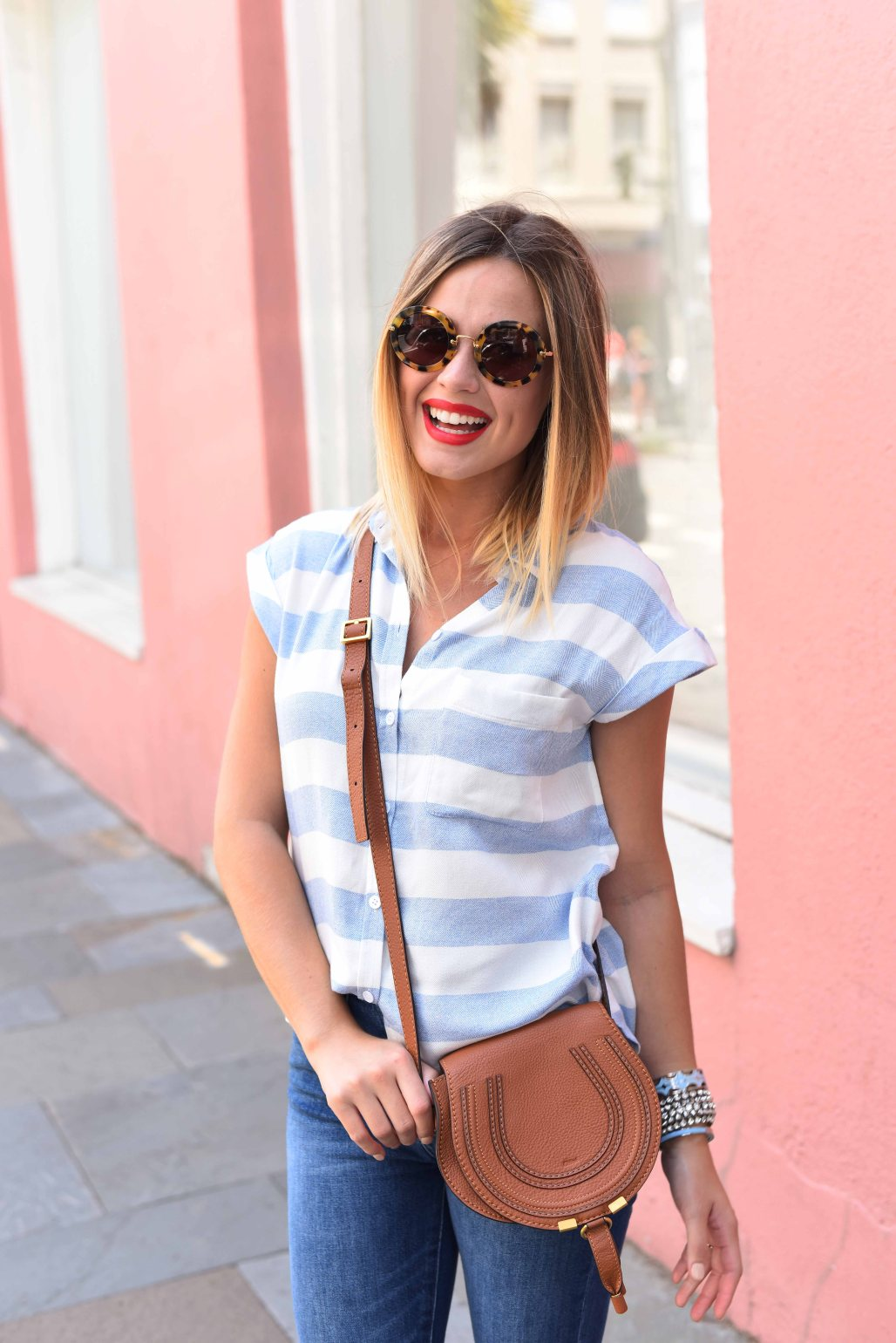 Cropped Denim look   Summer casual look   Tee and jeans look   Uptown with Elly Brown