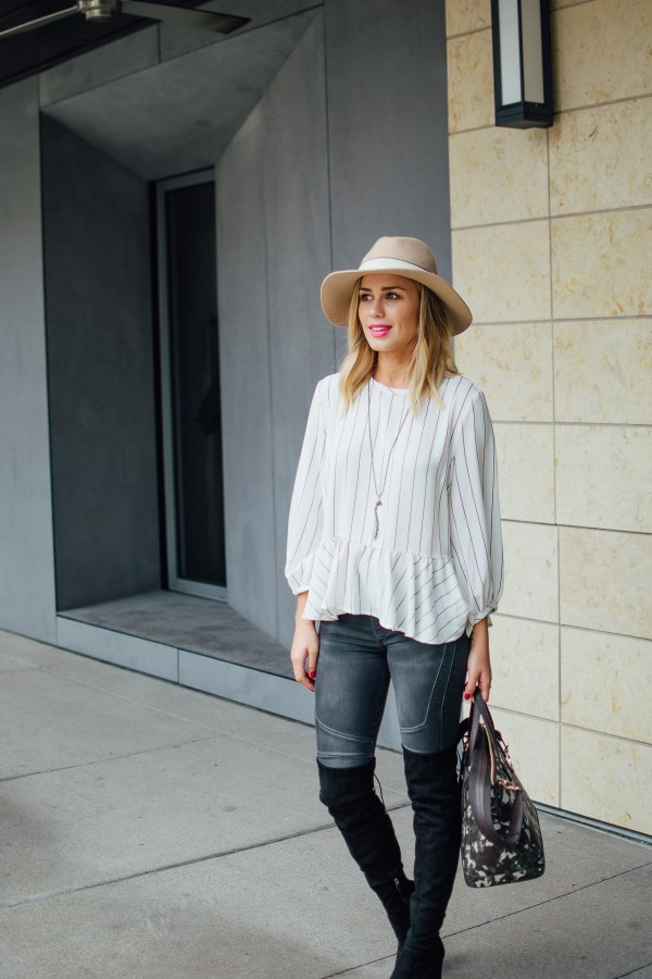 4 items you need this Fall | Fall Closet Staples | What to buy for the Fall | Over the Knee Boots outfit | Uptown with Elly Brown