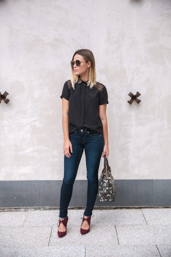 Alice and Olivia Top | Casual Fall outfit | Casual Office Outfit | Uptown with Elly Brown