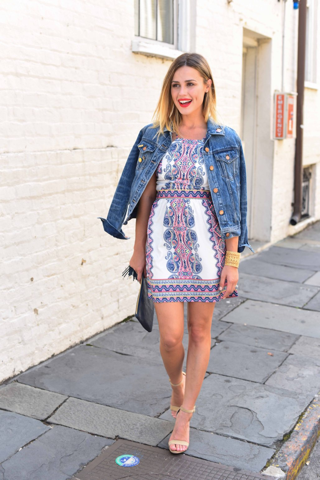 Summer Dress with Denim Jacket | Summer Dress | Uptown with Elly Brown