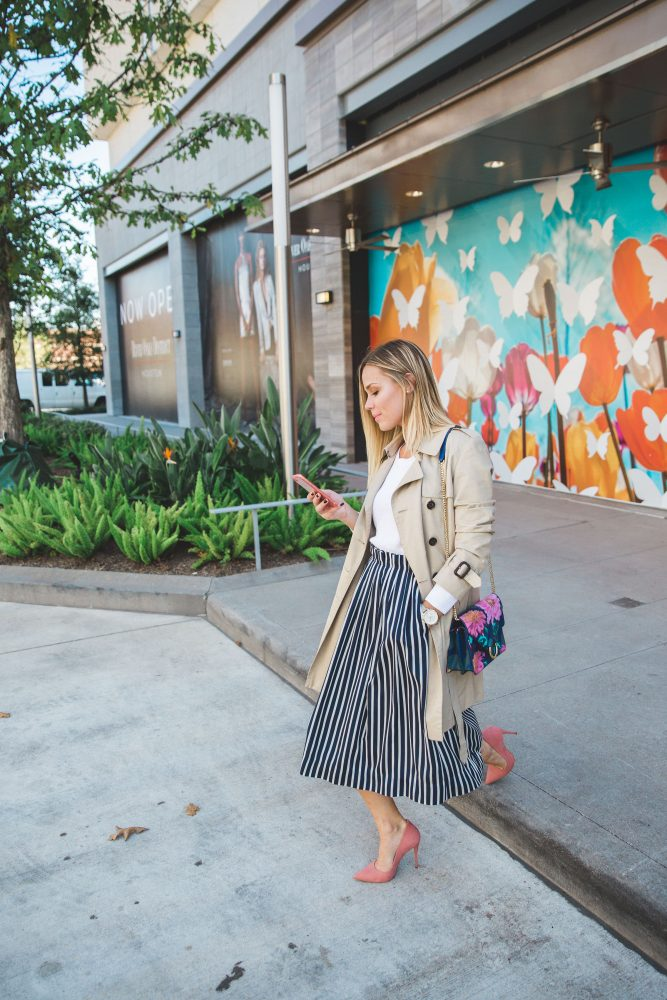 Chic work outfit | Trench Coat outfit | How to layer | Uptown with Elly Brown