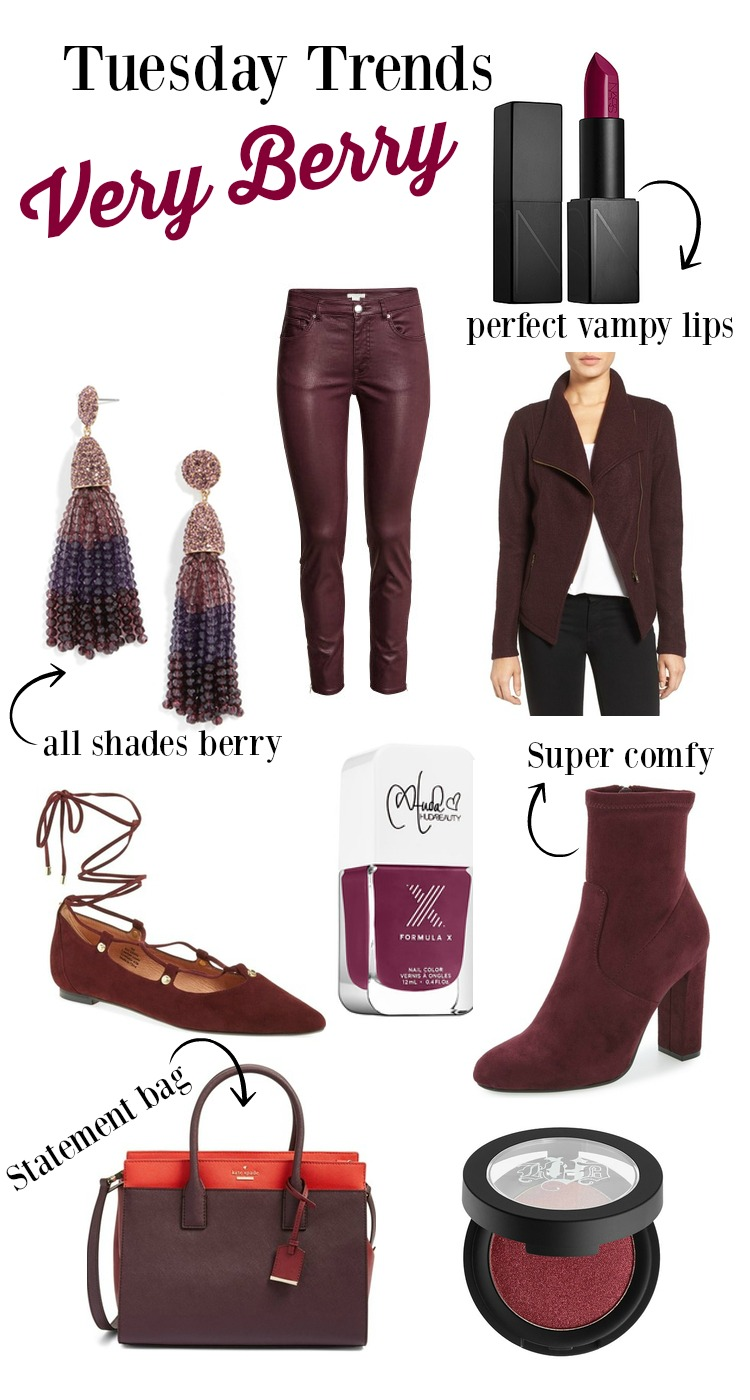 One of Fall 2016 hottest color Very Berry | Fall Trends | Uptown with Elly Brown