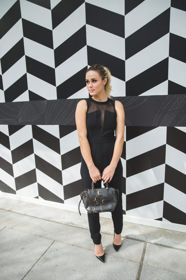Black Jumpsuit   Christian Louboutin outfit   Uptown with Elly Brown