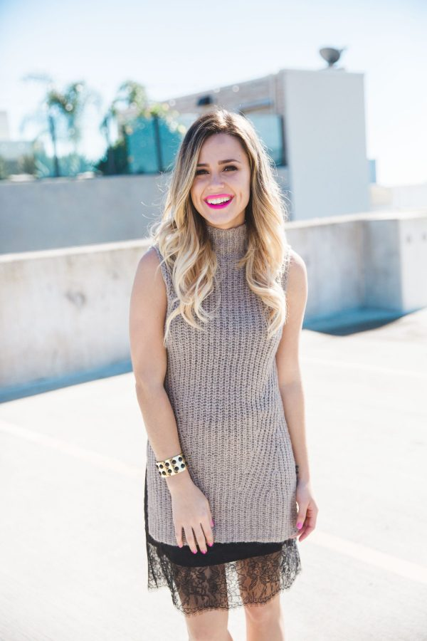 Sweater Dress | Lace Slip Dress | Uptown with Elly Brown