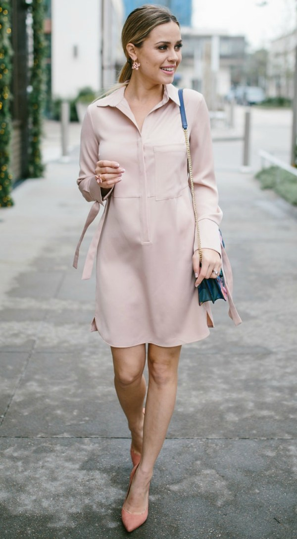 Valentine's Day | Valentine's outfit | Pink | Pink Dress | Maternity Fashion | Uptown with Elly Brown
