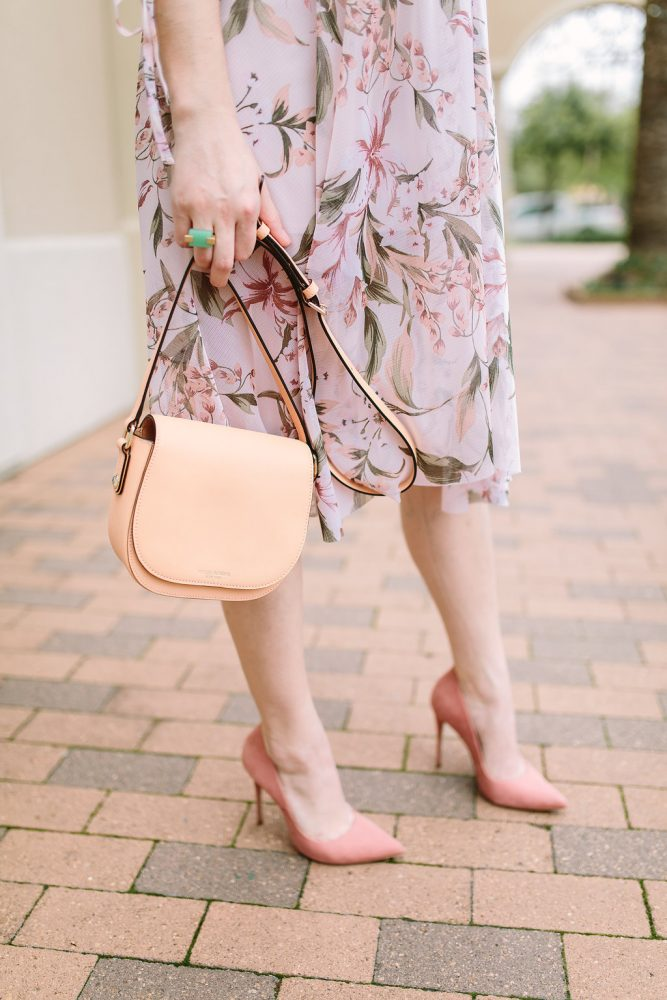 Floral Dress | Blush Dress | Maternity Style | Maternity Fashion | Uptown with Elly Brown