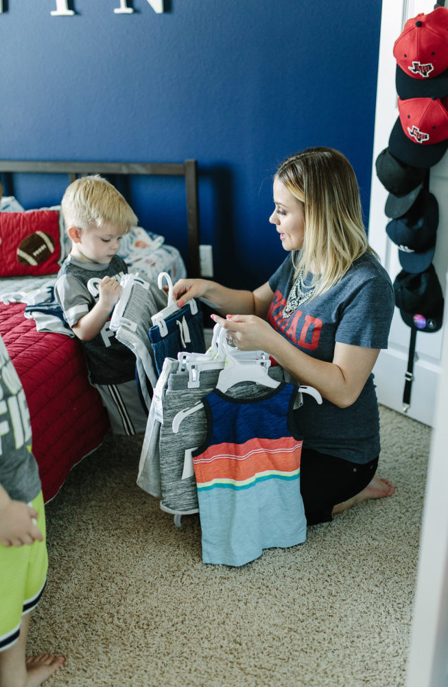 How to Spring clean your kids closet with Oshkosh B'gosh | Spring cleaning | Closet clean out | Kids Fashion | Kids Spring Fashion | Uptown with Elly Brown
