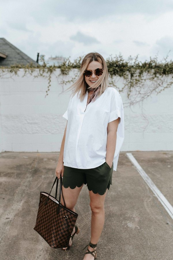 How to Buy Regular Clothes During Pregnancy by Houston fashion blogger Uptown With Elly Brown