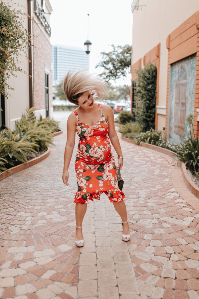 Floral ASOS Dress - 36 Weeks Pregnancy Update by Houston fashion blogger Uptown with Elly Brown
