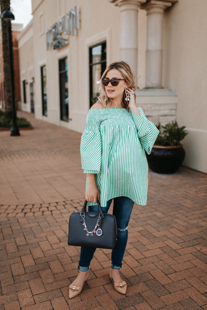 Last Pregnancy Outfit + FAQ by Houston fashion blogger Uptown with Elly Brown