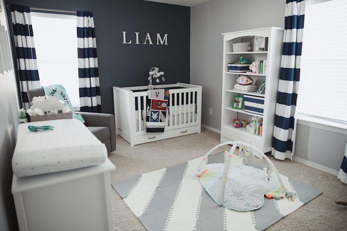 Baby boy nursery | Boy Nursery Reveal | Nursery decor | Uptown with Elly Brown