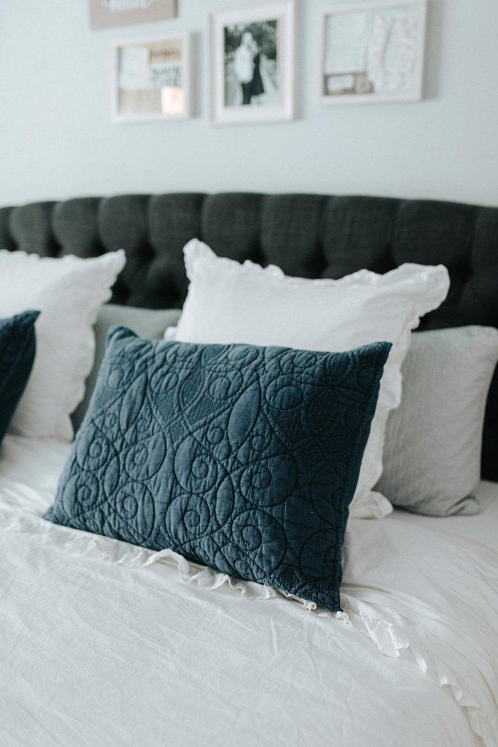 bedroom bedding ideas | Nightstand Ideas | Master bedroom Decor | Bedroom decor inspo | Uptown with Elly Brown