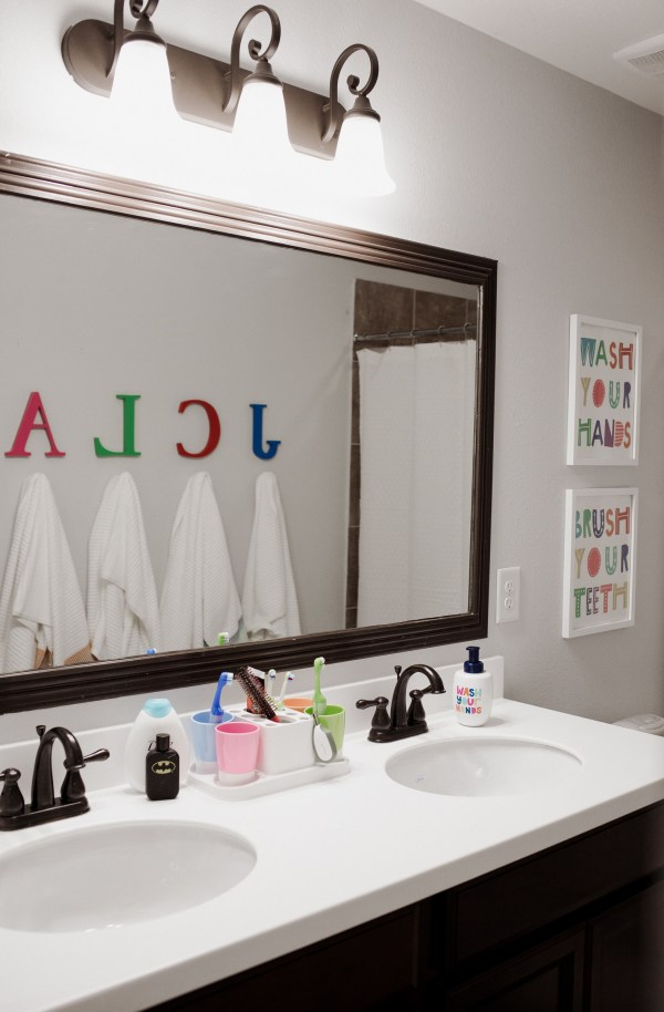 Kids Shared Bathroom Decor Makeover - Uptown With Elly Brown