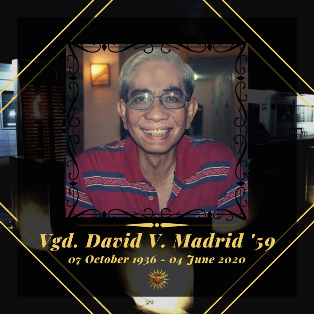 'Til the day we meet again, Vgd. Dave Madrid '59.