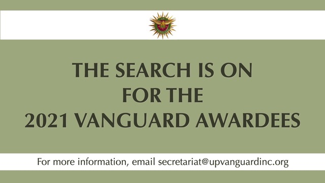 The Search is on for the 2021 Vanguard Awardees