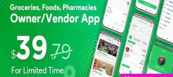 Food, Pharmacy,Store Delivery Mobile App with Admin Panel