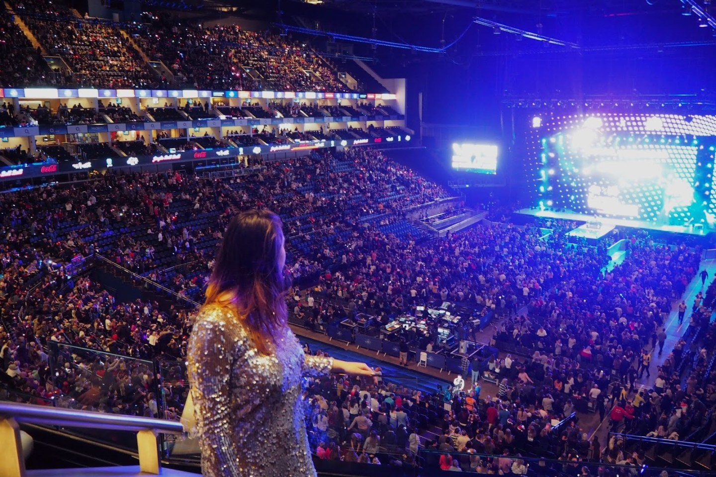 View of stage at O2