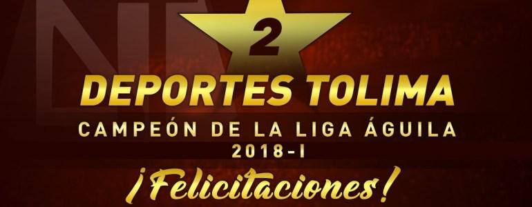 Deportes Tolima es el campeón de la Liga Águila 2018-I