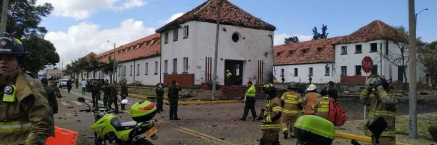 Cinco muertos deja carrobomba en Escuela de Cadetes General Santander de la Policía