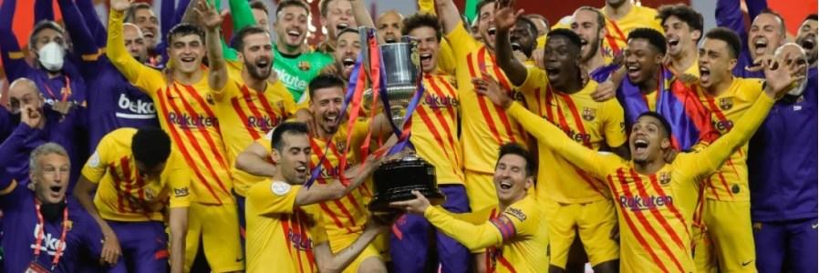 Con un Messi brillante, Barcelona goleó 4-0 al Athletic y se proclamó campeón de la Copa del Rey