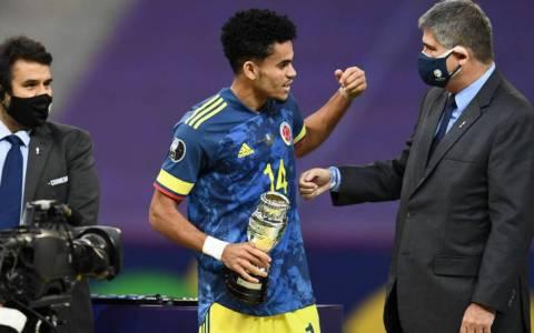 Luis Díaz, en el once ideal y elegido la revelación de la Copa América
