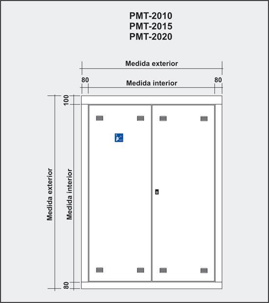 Frontales de armarios para registros principales ICT