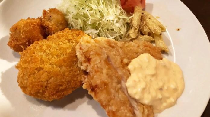 浦和西口の洋食屋Bon Repos(ボンルポ)のミックスフライ