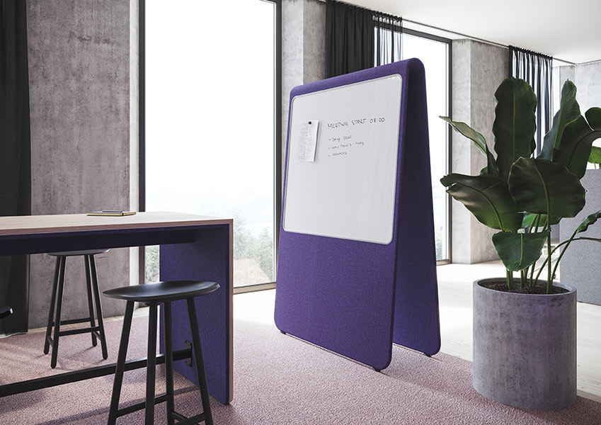 Alp screen  Mobile acoustic office screen  Training screen