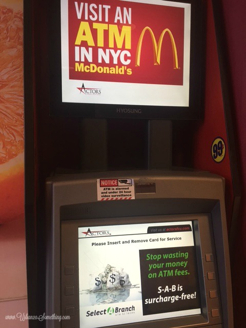 atm fee; 99 cents; mcdonalds; new york; affordable; frugal