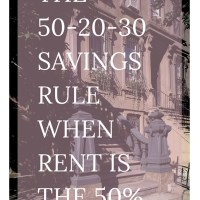 The 50-20-30 Savings Plan reworked for your rent being 50%. Click here to find out how and get your free worksheet!