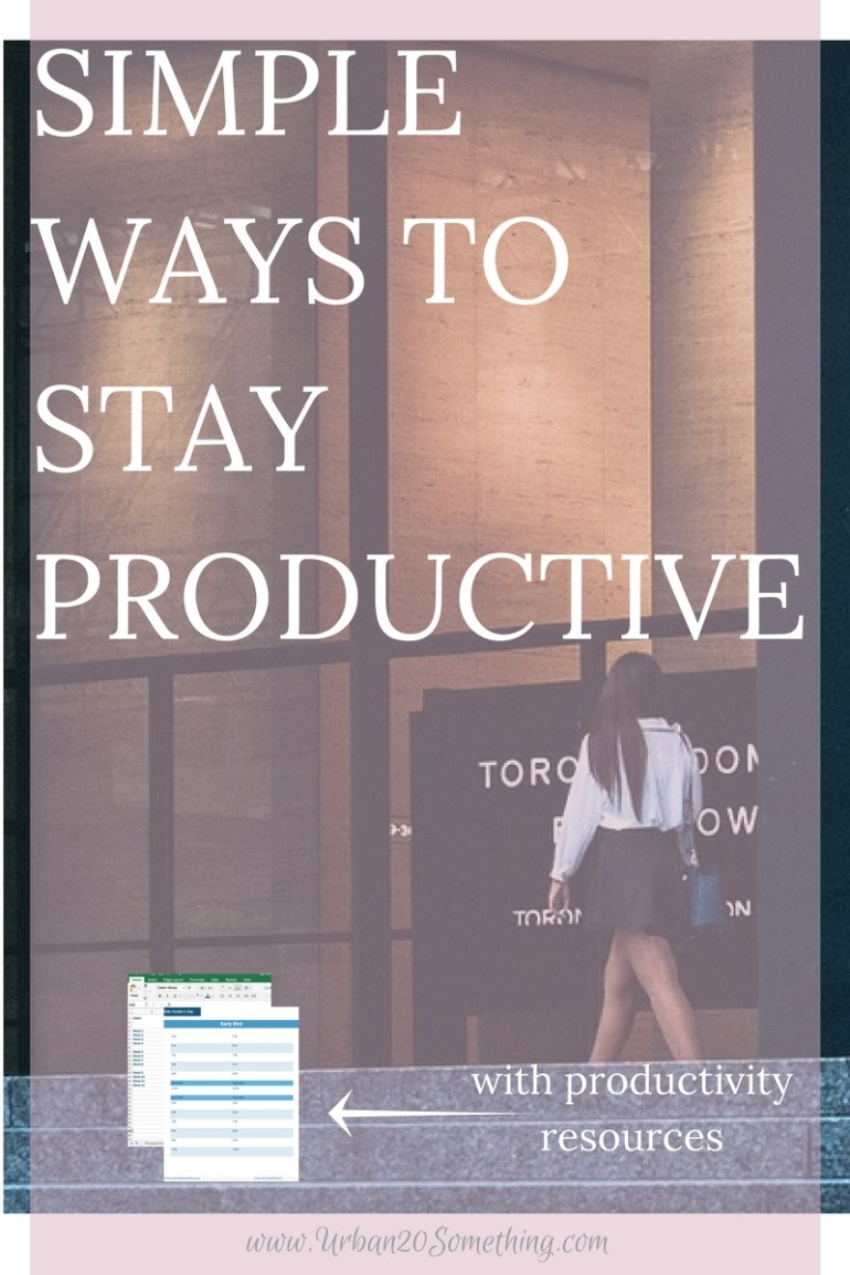 How can we become more productive without substantially changing our lives? There are ways it can be done! Click through to read my simplest ways to stay productive every day. Plus, the habit productivity tracker I use every day.