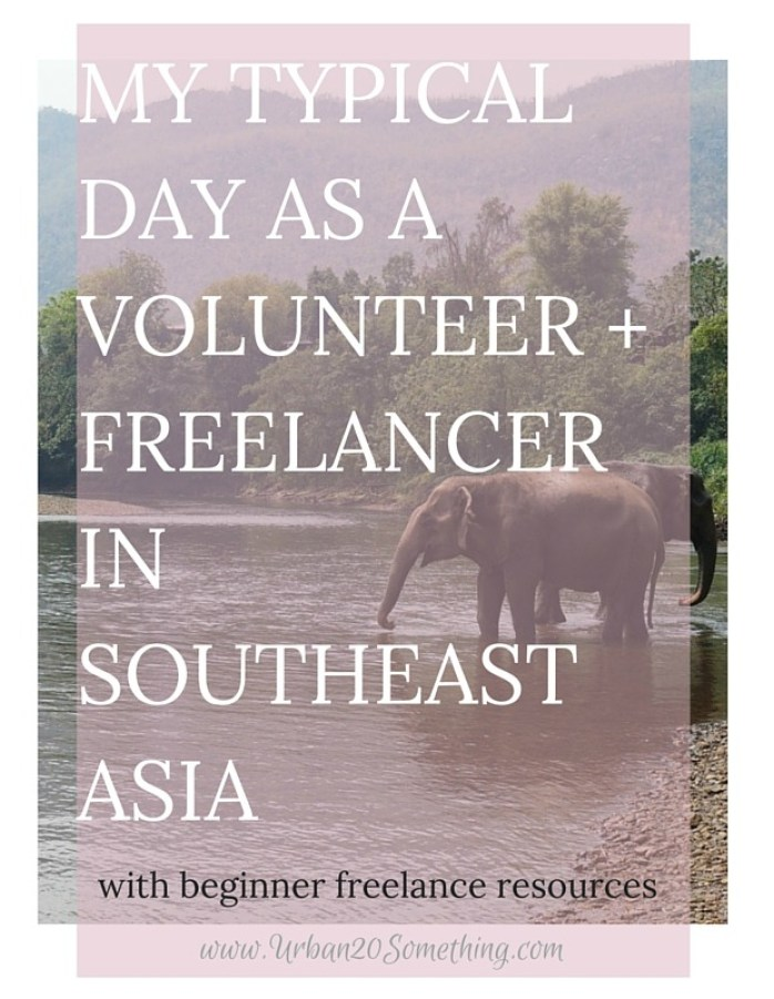 To celebrate my first month as a full-time volunteer and freelancer, I'm pulling back the curtain to show what my days look like and how I manage to balance making money and volunteering. Click through to see your inside look, and figure out how you could go abroad to volunteer, work, or study, too!